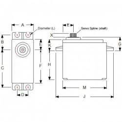 Kit de base rotativa com Servo HS-422