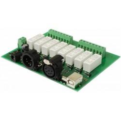 DMX-USB-RX-RLY8 - 8 relés...