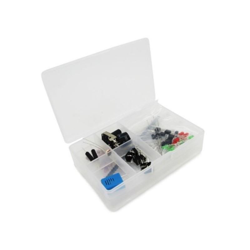 Kit componentes para iniciação ao arduino (com caixa)