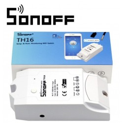 Sonoff TH16 - Sensor de Temperatura e Humidade WiFi Wireless Smart Switch para Domótica