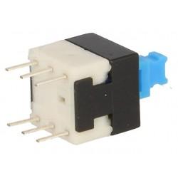 Botão de pressão, miniatura,  6 pinos