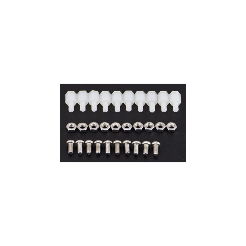 kit M3 * 6 em nylon (10 conjuntos)