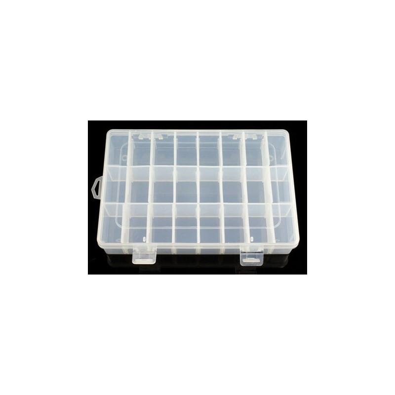 Caixa de Compartimentos Ajustáveis - 24 compartimentos