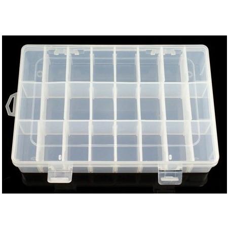 Adjustable Compartment Parts Box - 24 compartments