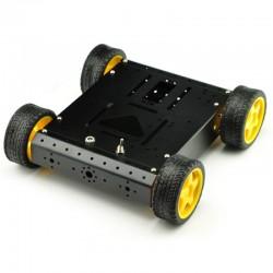 Base Robô 4WD em Alumínio -...