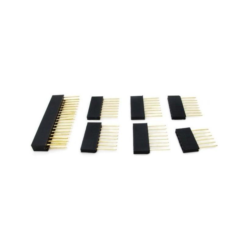 Conectores de 6 e 8 vias + 18 vias duplas para Arduino Mega (Stackable Header Kit)