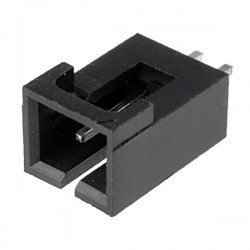 Conector NCDW 2.54mm c/travão - 2 pinos