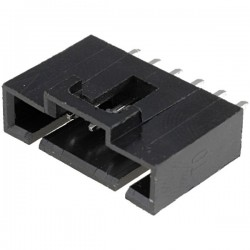 Conector NCDW 2.54mm c/travão - 6 pinos