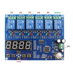 5 way relay time controller...