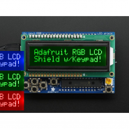 RGB LCD Shield Kit w/ 16x2...