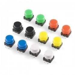 Botões de Pressão Coloridos x12