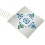 Teclado membrana 1x5 keypad