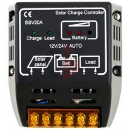 Regulador Solar PWM 12/24V,...