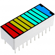 10x LED Color Bar Battery...