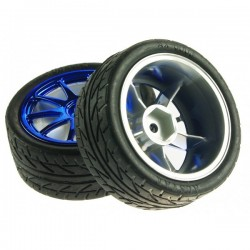 Par de rodas vermelhas D65MM - FIT0199-B