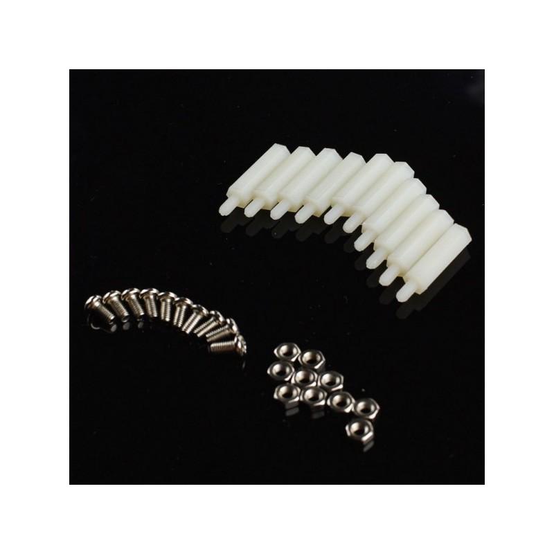 Pack M3 * 20 em nylon (10 conjuntos)