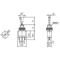 Interruptor 2A/250VAC toogle