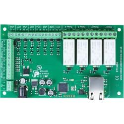 ETH484 - 16Amp, 4 Channel Relay Module