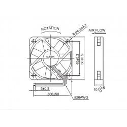 FAN 12VDC, 50mm