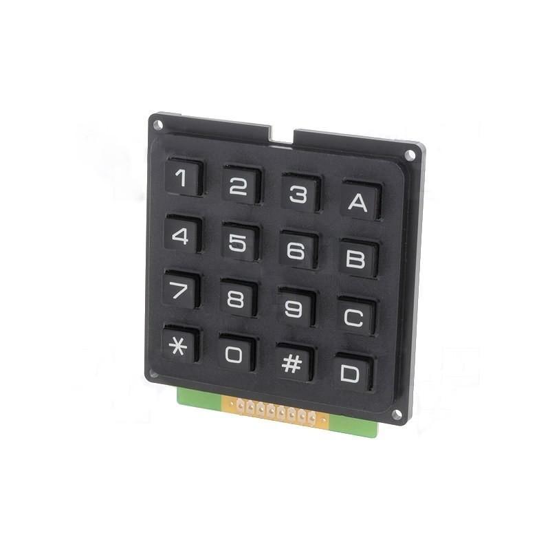 Universal keypad 16 black keys