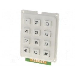 Numeric Keypad 12 keys White
