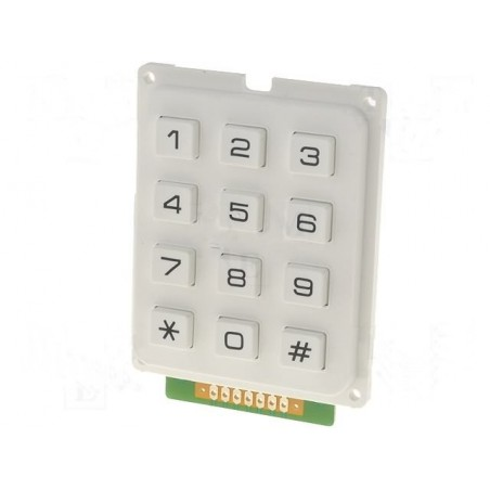Numeric Keypad 12 keys White