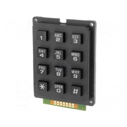 Alfanumeric Keypad 12 keys black