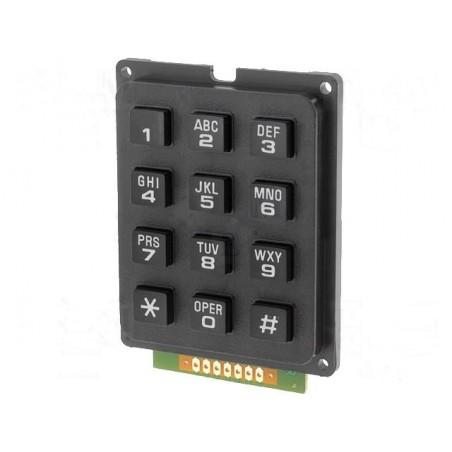 Alfanumeric Keypad 12 keys black