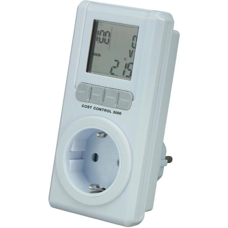 Basetech Controlo de Consumo 3000 LCD 0.00 - 9999.99 kWh