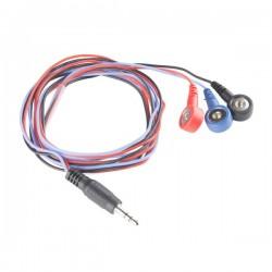 Cabo para Sensor - Pad Eléctrodos  (3 conectores)
