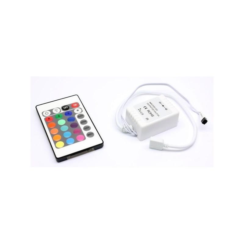 Controlador de Fita de LEDs RGB c/ Comando à Distância