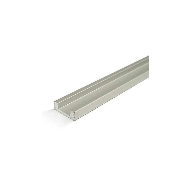 """Perfil de Alumínio em """"U"""" p/ Fita de LEDs 10mm - 2 mts"""