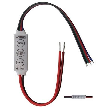 Regulador Fluxo Luminoso (Dimmer) p/ Fita LEDs RGB 12/24V