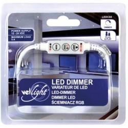 Regulador Fluxo Luminoso Mini (Dimmer) p/ Fita LEDs 12/24V