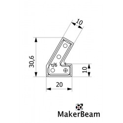 Bracket Makerbeam 60º 12 uni