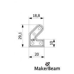 makerbeam bracket 45 degree, 12 pcs