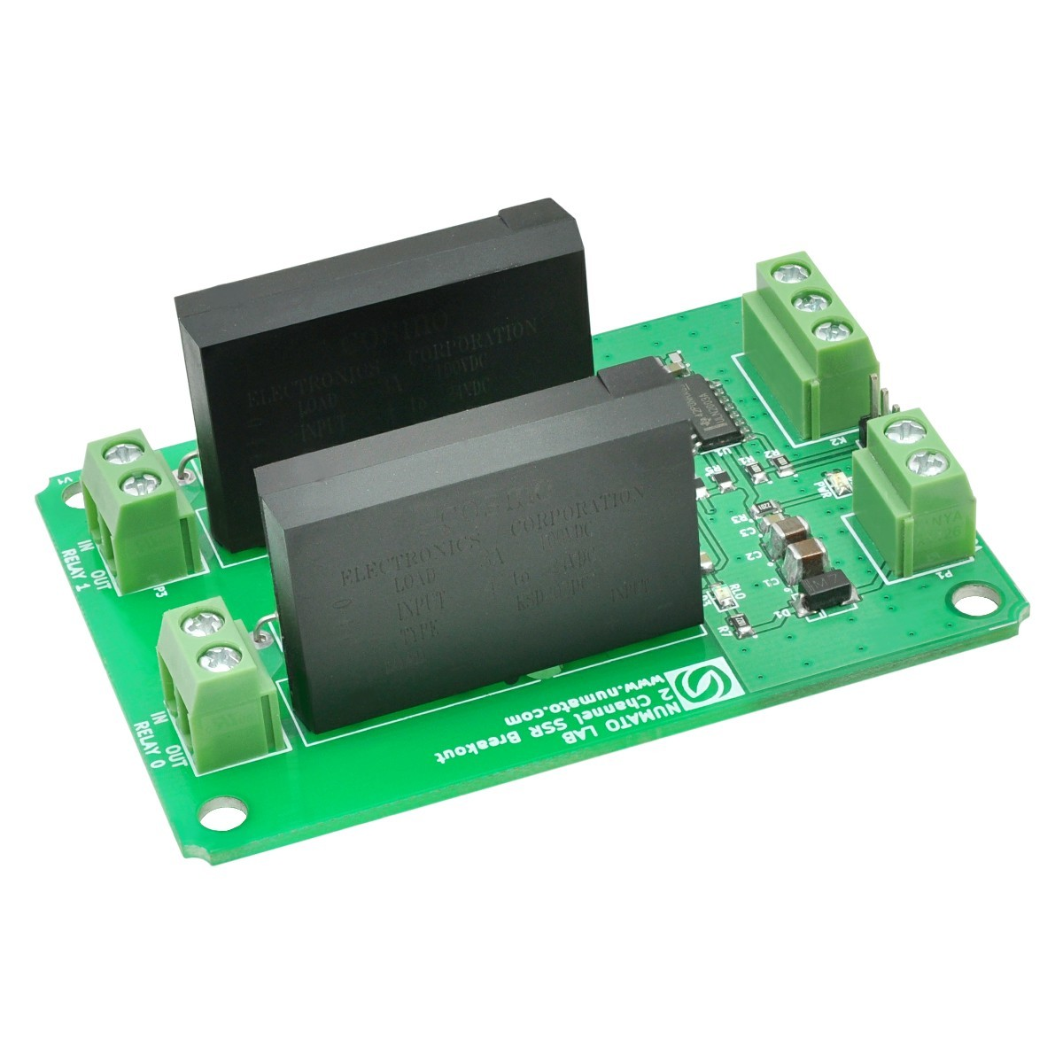 2 Channel Ac Solid State Relay Controller Board Schematic