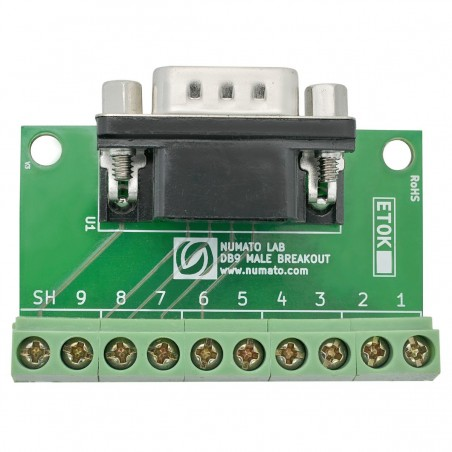 Serial DB9 Male Breakout Board