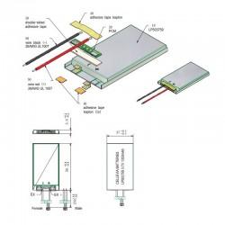Lithium-ion Polymer Battery 3.7V 7400mAh