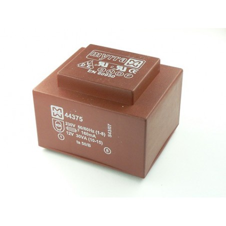 PCB Mount Transformer - 44380 - 2X9V 30VA 230V MYRRA