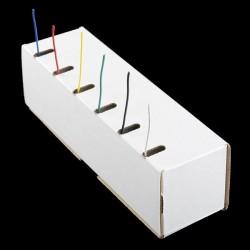 Conjunto de 6 rolos de fio - 762cm/rolo (22 AWG)