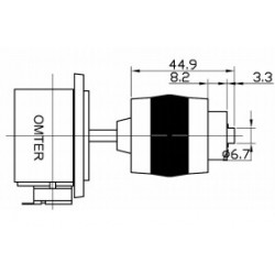 Joystick 2- axes FIRE function 1 x NO contact 5kΩ