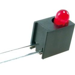 Suporte angular LED 3mm polyamide preto UL94V-2 W:4.6mm