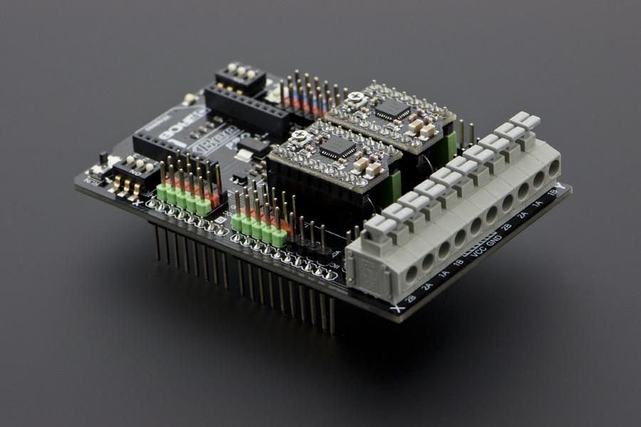 Dual Bipolar Stepper Motor Shield for Arduino (A4988) - botnroll com