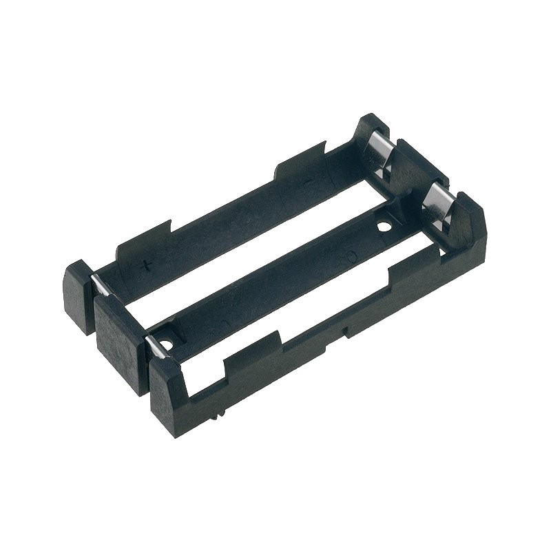 Support for 2 batteries MR18650