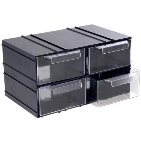 Módulo arrumação KON c/4 gavetas - 230x142x125mm