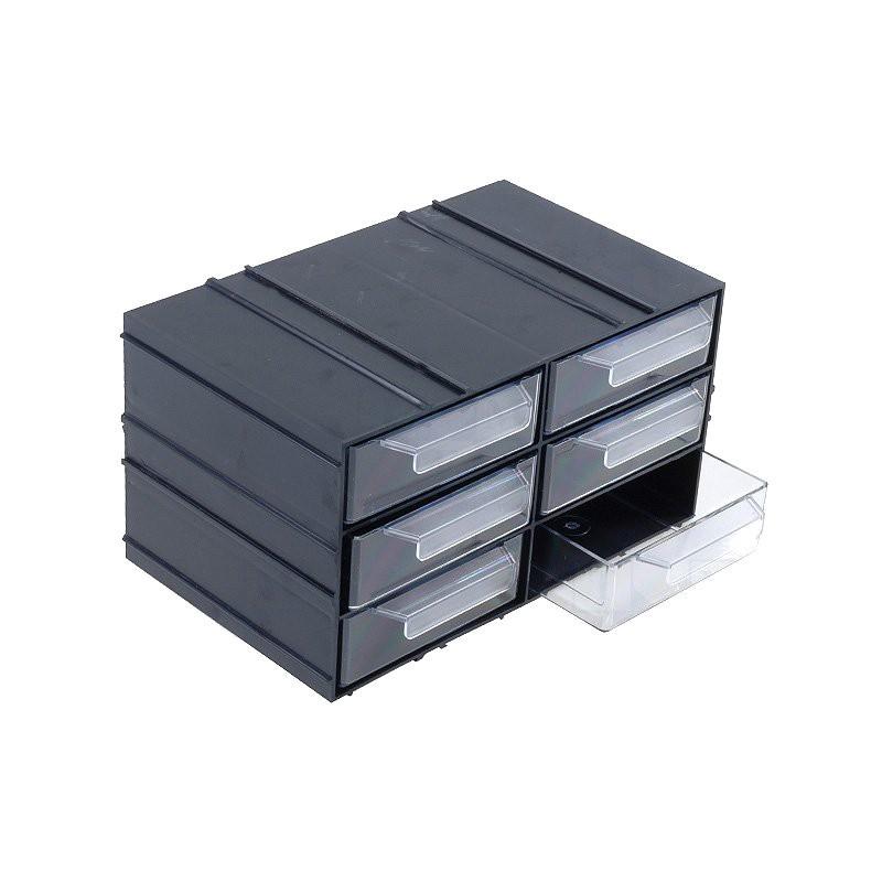 Módulo arrumação KON c/6 gavetas - 230x142x125mm