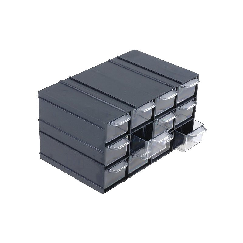 Módulo arrumação KON c/12 gavetas - 230x142x125mm