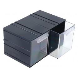 Módulo arrumação KON c/2 gavetas - 230x142x125mm