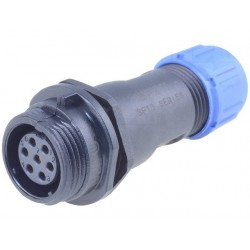 Plug SP13 IP68 for cable - 7 pin female